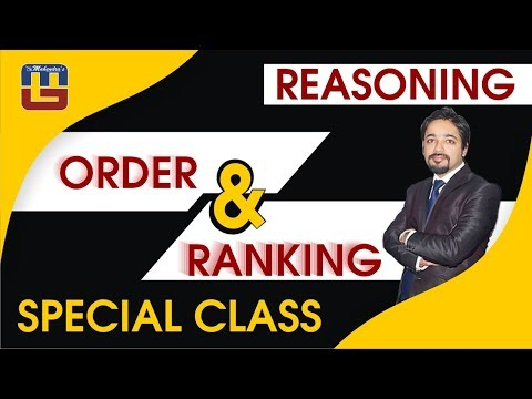 Order & Ranking Special Class | Reasoning