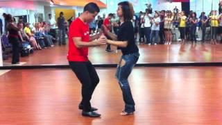 Dominican Style Bachata - El Tiguere and Serena Cuevas