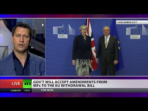 Conservatives will accept amendments from MPs to EU Withdrawal Bill
