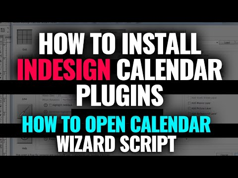 How To Install Indesign Calendar Plugins | How To Open This Calendar Wizard Scripts (GD Alam)