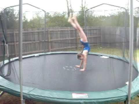 me doing gymnastics on trampoline youtube. Black Bedroom Furniture Sets. Home Design Ideas