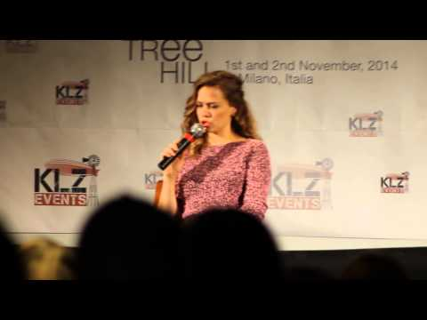 Bethany Joy Lenz- Talk about James Lafferty OTH FanMeet Milan