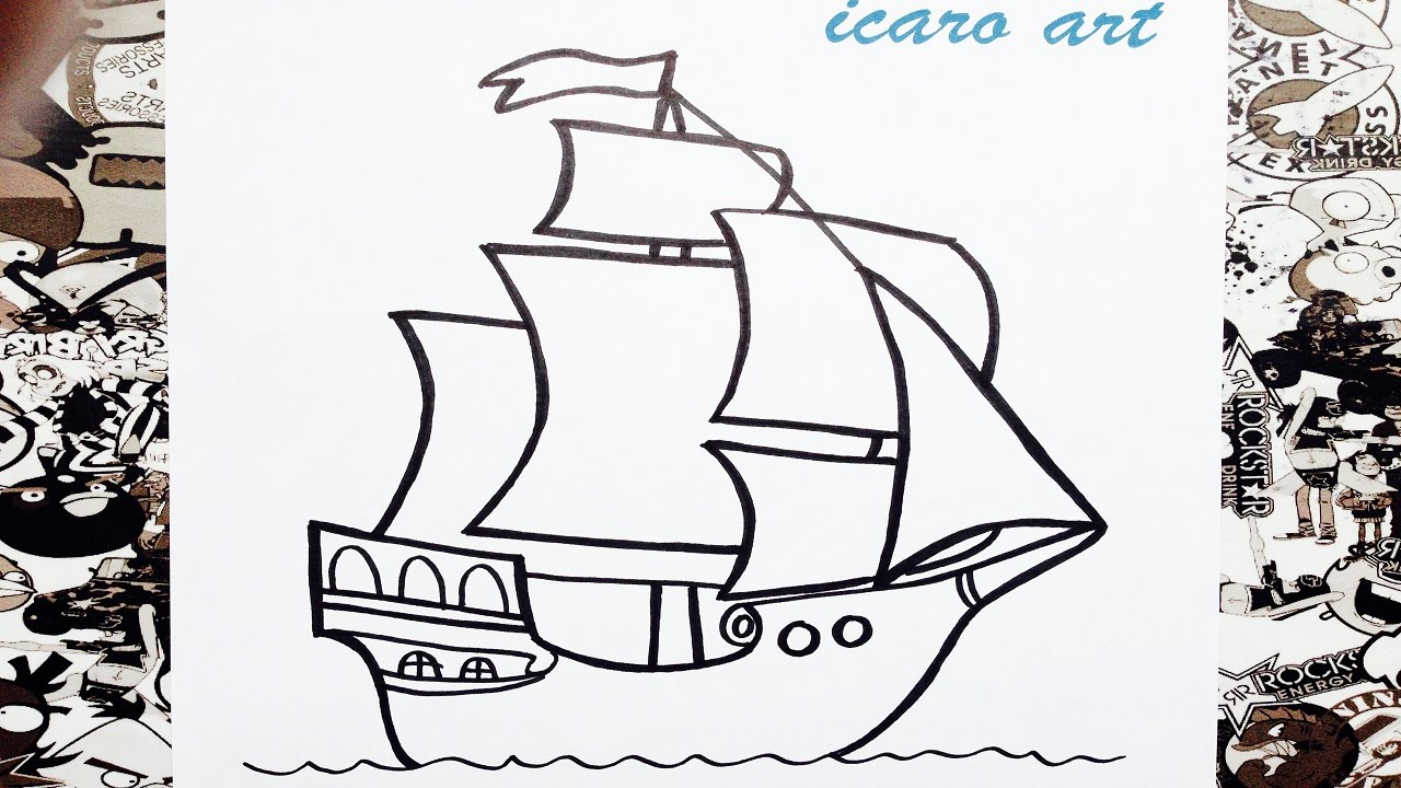 Como dibujar un barco paso a paso how to draw a boat - Imagenes de barcos infantiles ...