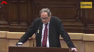 Intervenció de Quim Torra al Ple del Parlament (01-03)