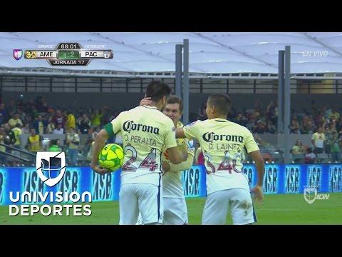 Manuel Pérez corona una gran jugada de Diego Lainez y América se pone 1-2 ante Pachuca