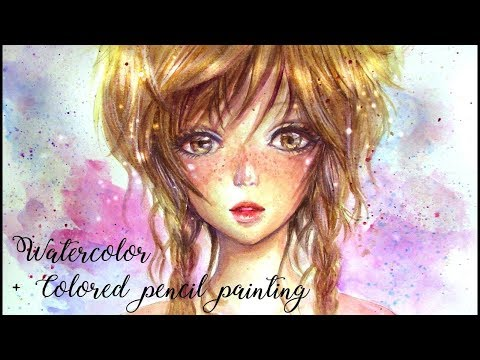 How To Draw Anime Girl with Watercolor