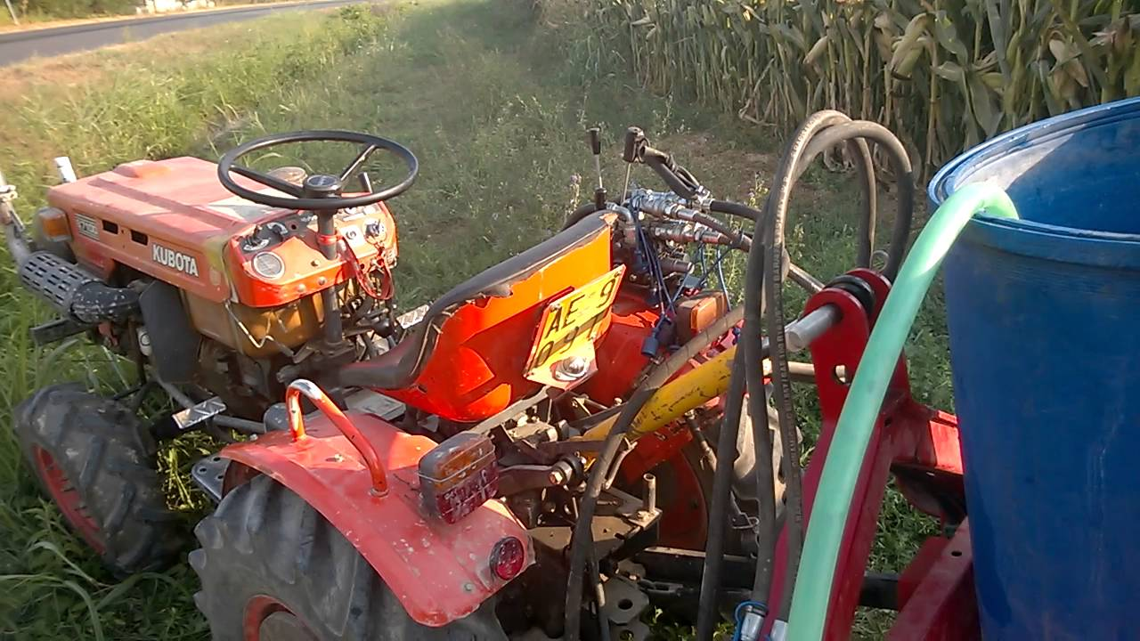 Kubota Tractor With Hydraulic Water Pump