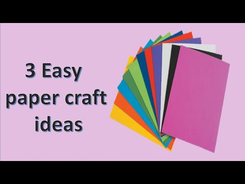 easy-and-simple-crafts-to-do-at-home-with-white-paper-|-3-paper-craft-ideas