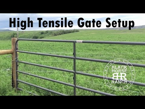 High Tensile Gate Detail