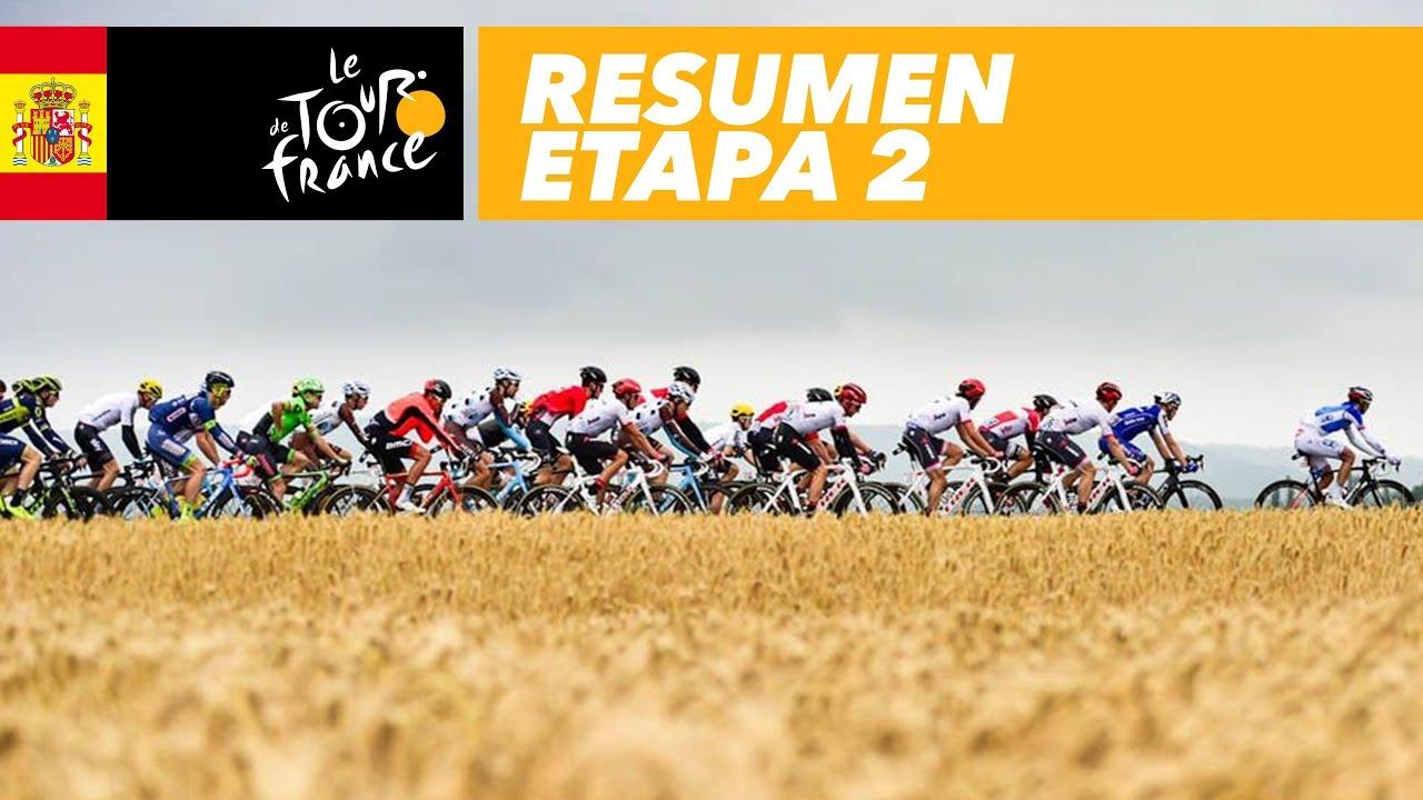 Resumen Etapa 2 Tour De France 2017 Youtube