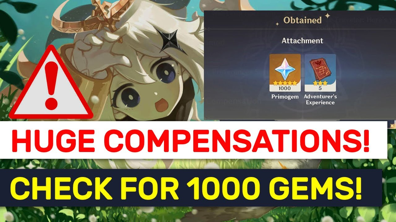 MASSIVE 1000 GEMS MiHoYo Compensations! NEW Apology Mails! | Genshin Impact