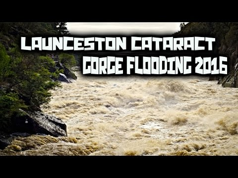 Launceston Cataract Gorge Flooding ~ Tasmania Australia