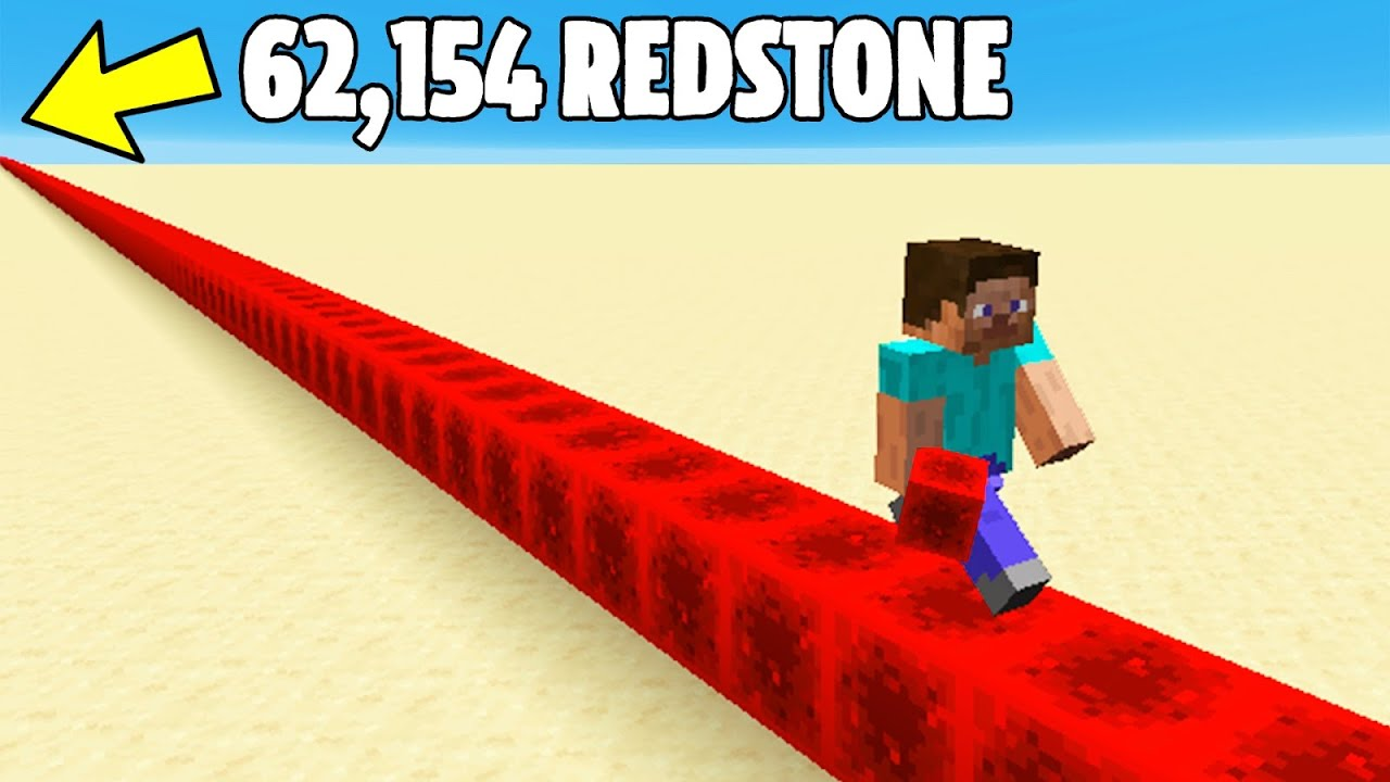 Placing 62,154 Redstone to Break a Minecraft Record
