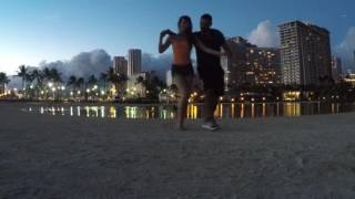 Kyle Quintal and Monika Krawczyk Bachata in Waikiki