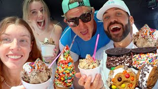 ULTIMATE FROYO MUKBANG with CARLY, ERIN, AND JASON!!