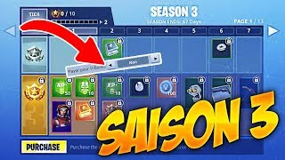 FORTNITE SAISON 3 PRESENTATION - OPTION FOR FREE VBUCKS
