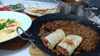 Tantuni Ve Lavaş Ekmeği İle Akşam Yemeği Menüsü/Çorba/Meze/Seval Mutfakta