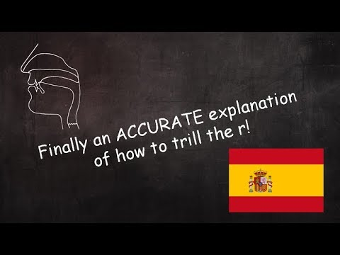 Finally an accurate explanation of how to trill the  Spanish R