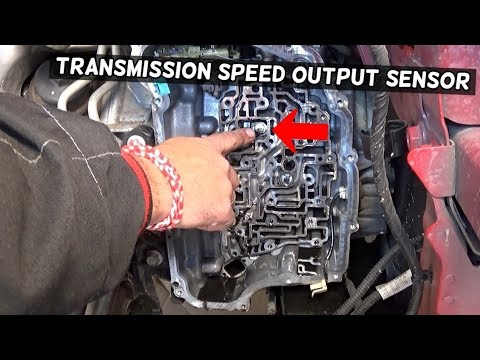 TRANSMISSION OUTPUT SPEED SENSOR LOCATION REPLACEMENT REMOVAL CHEVROLET CRUZE, CHEVY CRUZE