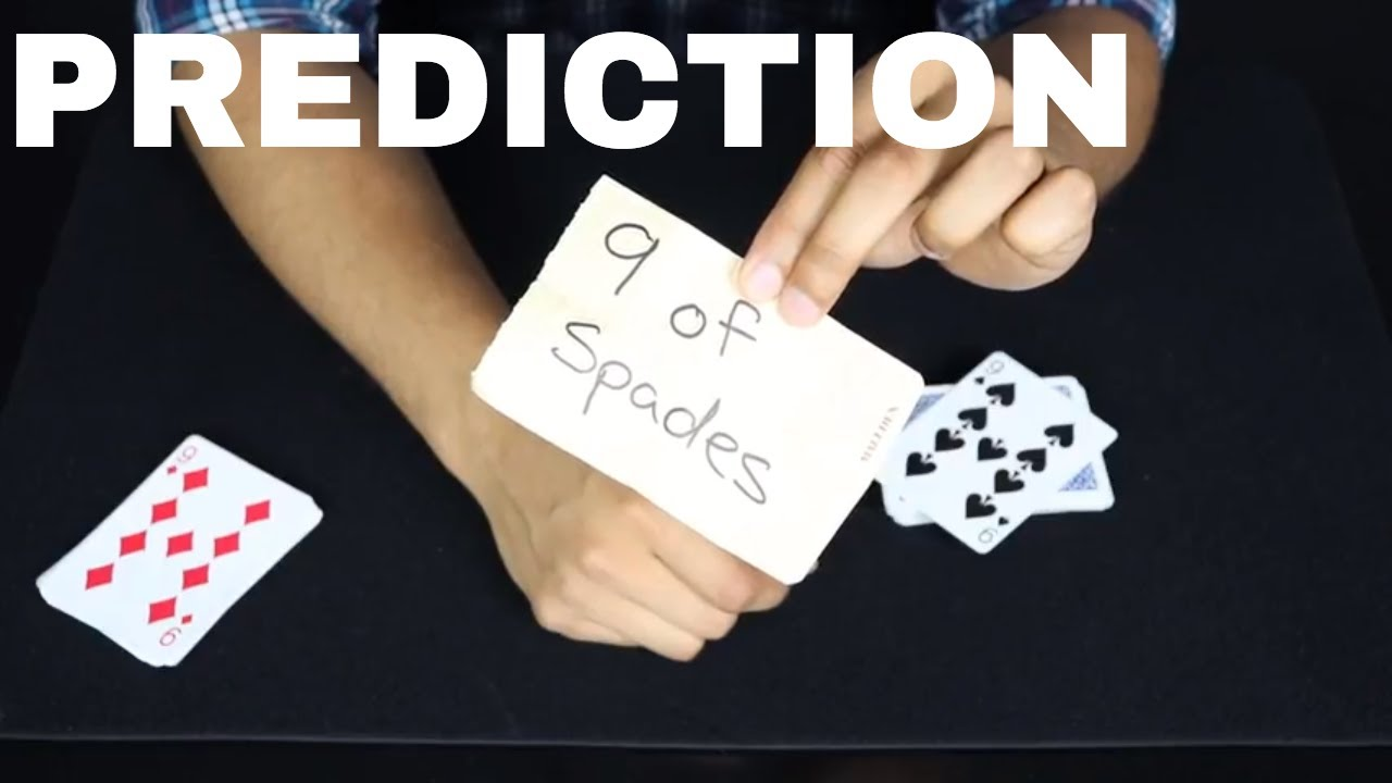 insanely easy prediction card trick  youtube