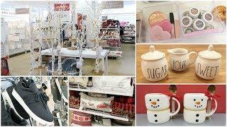Shop With Me - Target, Homegoods, Walmart + New Makeup Storage, Christmas Decor & Rae Dunn Finds