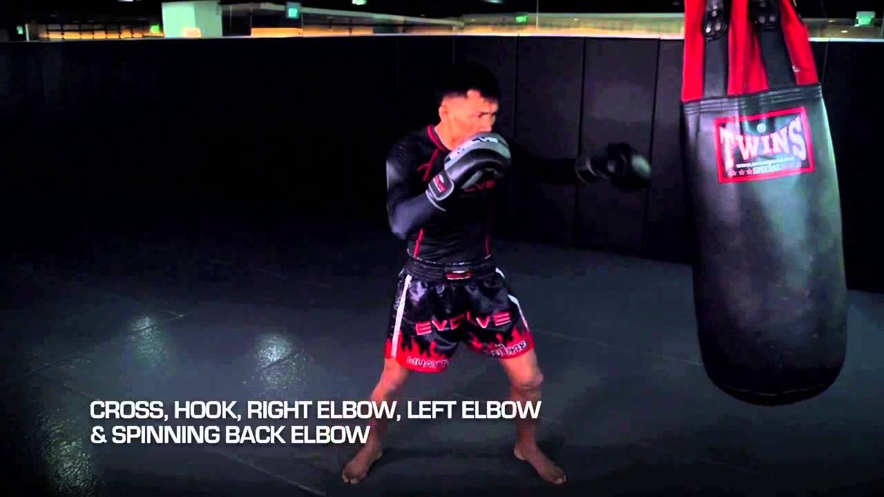 afa21b204 MUAY THAI  10 Muay Thai Heavy Bag Combinations In 1 Minute
