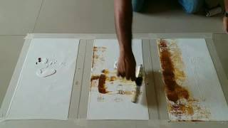 Easy Abstract Painting Demonstration / How to make easy abstract painting in acrylics