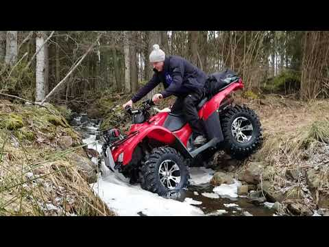 Honda atv water crossing