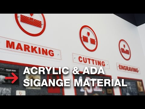 Acrylic and ADA Signage Material   Laser Cutting and Engraving