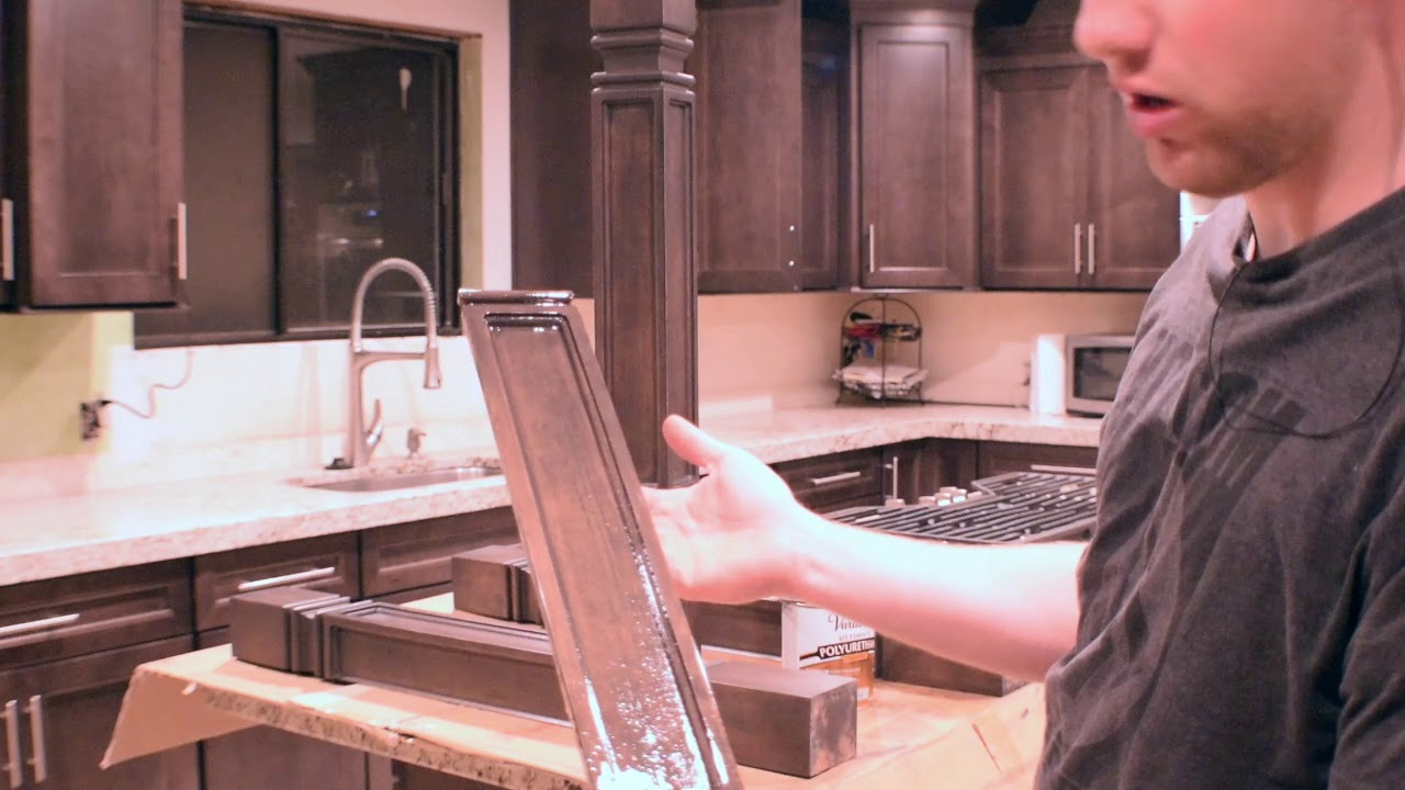 How To Stain And Install Kitchen Island Leg Supports Youtube