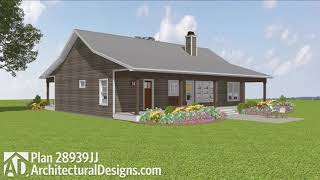 Budget Friendly Ranch Farmhouse Home Plan 28939jj Virtual Tour With Interiors! Adhouseplan Exclusive