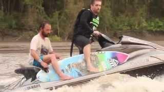 Kepa Acero surfs brasilian Pororoca.