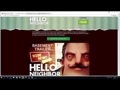 Игра Hello Neigbor альфа скачать с сайта а не через торрент