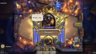 Playing Hearthstone Kobolds & Catacombs - Hunter Dungeon Run Final Boss - First Try - did not finish