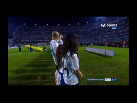 Soledad-Himno Nacional Argentino (Despedida de la Selección Argentina 29/05/18)