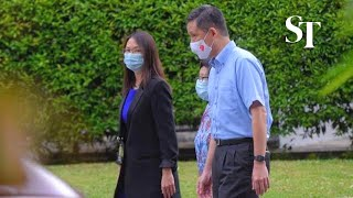 Education Minister Chan Chun Sing speaking at River Valley High School after boy's death