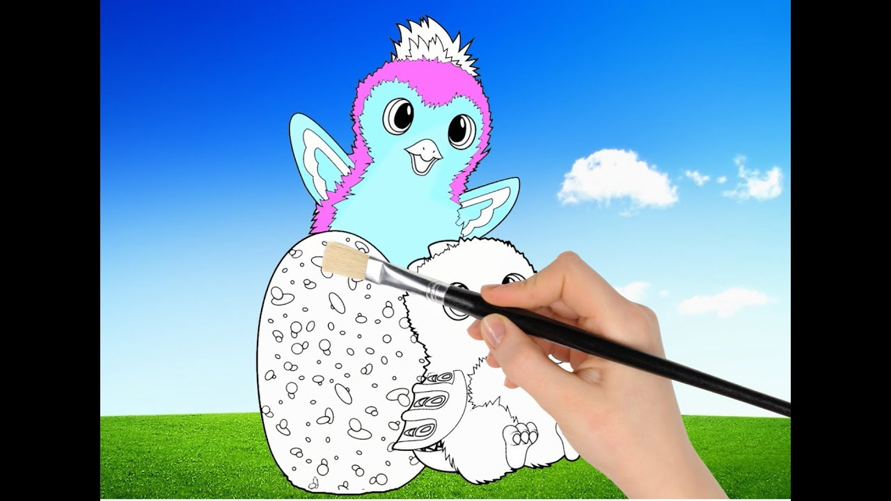 Hatchimals Coloring Pages Simple And Easy Tutorial For Kids With