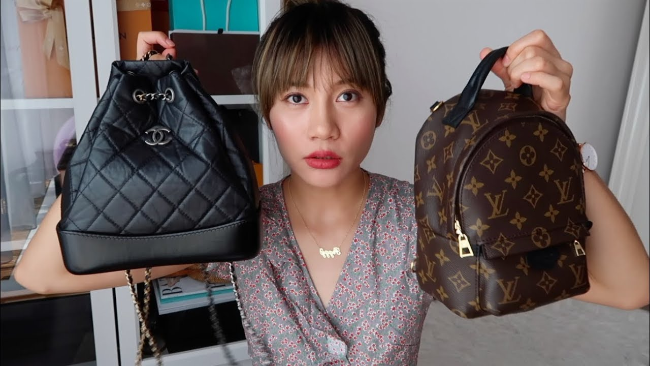9de5506e58a9 Chanel Gabrielle Backpack VS Louis Vuitton Mini Palm Spring Backpack ...