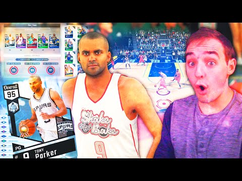 NBA 2K17 My Team ONLINE DEBUT! DIAMOND TONY PARKER IS FILTHY!