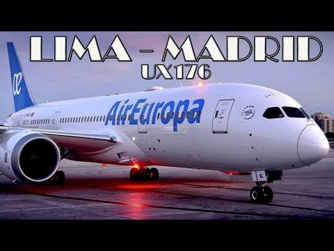 Air Europa Business Class - Lima Madrid