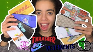 ALIEXPRESS LUXURY/DESIGNER IPHONE 11 CASE HAUL $2 OR LESS!   Gucci, Off-White, Palace & More!