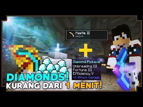 CARA CEPAT MINING DAN MENDAPATKAN DIAMONDS! - Minecraft Tutorial