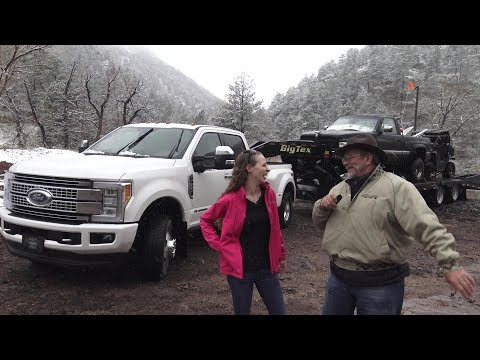 2018 Ford F350 Platinum Review in the Rockies with Kent and Kelsdy