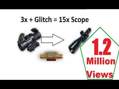How to convert 3x Scope into 15x Scope (Trick) : PUBG MOBILE - YouTube