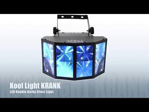 Kool Light KRANK LED Double Derby Effect RGB Light DJ Disco Party Lighting