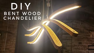 DIY Curved LED Pendant Lamp | steam bending wood | #rocklerbentwoodchallenge