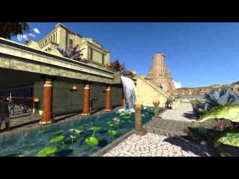 3d babylon hanging gardens palace - YouTube