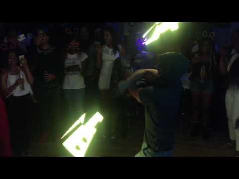 LED stilts and Logo Lights at Alba Lounge
