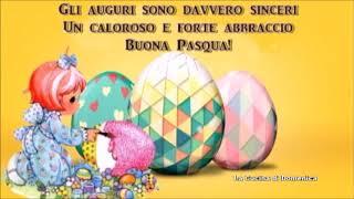 Auguri di buona pasqua - la e qui, il cuore è colmo gioia per resurrezione nostro signore. alleluja.