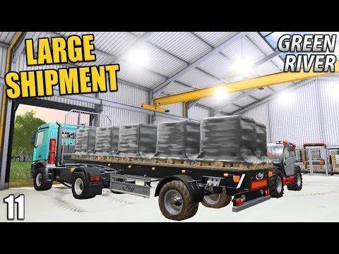 LARGE SHIPMENT | Farming Simulator 17 | GreenRiver - Episode 11